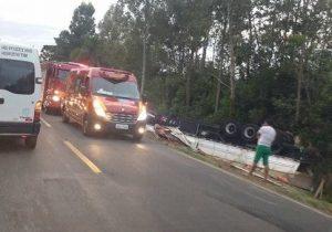 Caminhoneiro perde a vida em acidente na PR 151