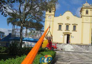 Corpo de Bombeiros realizou treinamento de resgate na Igreja Matriz