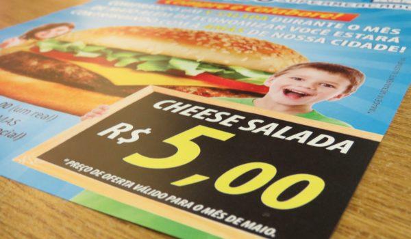 Supermercado destinará R$ 1 para a AMAS a cada x-salada vendido
