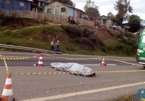 Homem de 32 anos morre atropelado na BR 277 em Palmeira