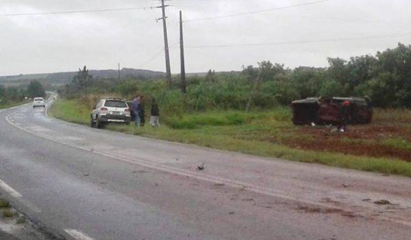 Dois acidentes na PR 151 nesta manhã