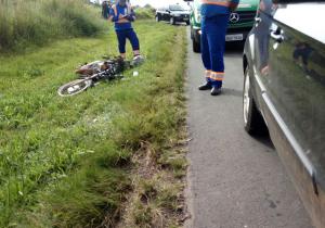 Colisão auto x moto na BR 277 deixa casal ferido