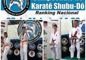 Dois atletas de Palmeira do karate Shubu-Dô sobem ao pódio