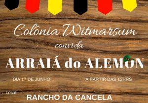 Witmarsum realiza festa juninacom toque germânico no sábado
