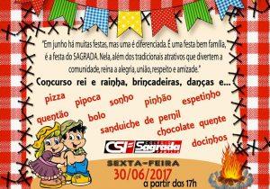 Festa junina do Colégio Sagrada Família acontece nesta sexta-feira