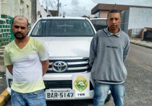 Polícia Militar de Palmeira recupera caminhonete roubada em Curitiba