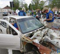 Simulação de resgate da vitima em acidente de trânsito 08-06-2017