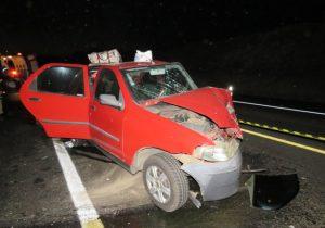 Grave acidente na BR 277 em Palmeira deixa quatro feridos