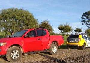Recuperada a camionete roubada em Palmeira