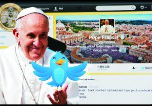 Conta do Papa no Twitter está disponível em nove línguas
