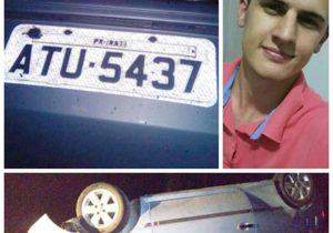 Jovem não resistiu aos ferimentos do acidente na PR 151, em Palmeira.