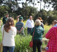 Visita técnica por várias áreas mantidas pelo Colégio Agrícola.