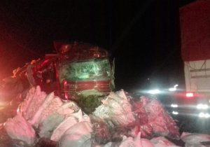 Motorista morre em acidente com três caminhões em Palmeira