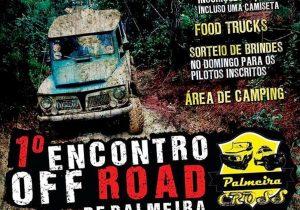 Encontro Off Road reúne aventureiros de Palmeira e região neste final de semana