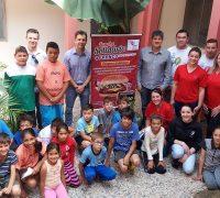 Visita da equipe do Franco Supermercado ao Projeto Renascer.