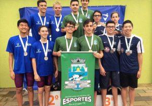 Nadadores palmeirenses conquistam medalhas nos jogos da Juventude do Paraná