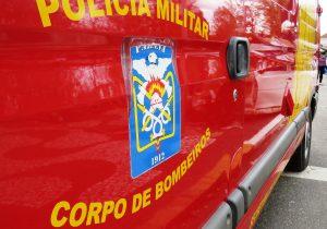 Caminhão tomba na PR 151 e motorista fica gravemente ferido