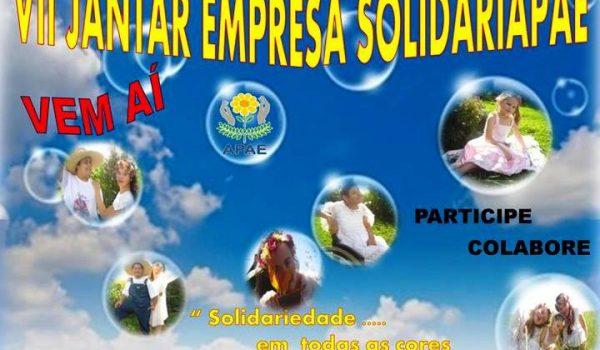 7º Jantar Empresa Solidariapae, dia 28 de outubro, no Lago