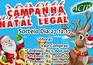 Sorteio de Natal da ACIP vai distribuir R$19,9 mil