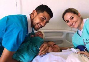 Nasceu o primeiro bebê do ano em Palmeira