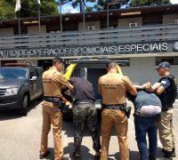 A PRF informou também que até o momento 2 bandidos foram capturados