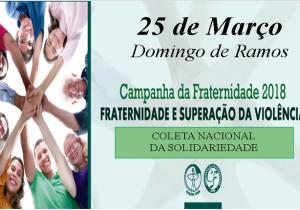Coleta da Igreja no domingo de Ramos irá para projetos que combatem a violência