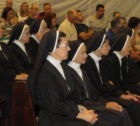 Irmãs que estiveram visitando Palmeira e participando da Missa de Ação de Graças.