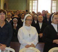Irmãs presentes na Missa de Ação de Graças.