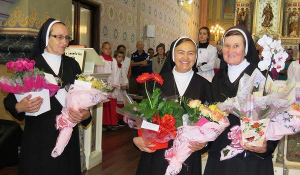 Irmãs são homenageadas em Missa de Ação de Graças