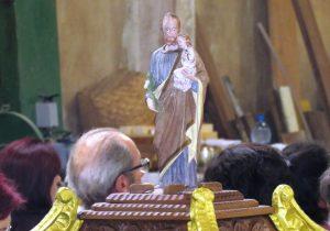 Missa em louvor à São José na marcenaria