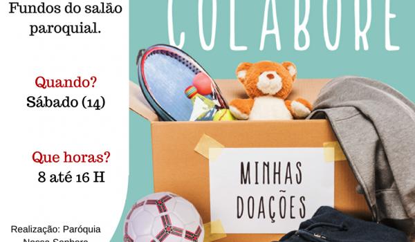 Bazar da paróquia terá produtos a partir de R$ 2 reais