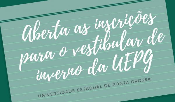 Inscrições para vestibular da UEPG iniciam nesta segunda-feira