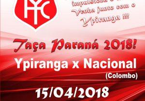 Ypiranga estreia na Taça Paraná jogando em casa