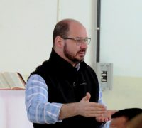 Pe. Adriano esteve presente na formação com coordenadores da catequese e na atividade de reposição com os ministros da Sagrada Eucaristia