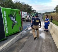 O acidente aconteceu por volta das 16h na BR 277, região de Queimadas
