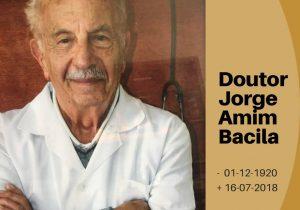 Faleceu aos 97 anos o DR. Jorge Amim Bacila