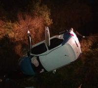 O acidente ocorreu por volta das 5h30, na BR 277, Km 167, na rotatória de acesso à Avenida Daniel Mansani