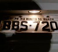 O veículo é da Secretaria de Saúde do município de Rio Bonito do Iguaçu