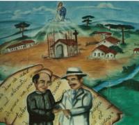 Painel que está no Museu de Palmeira.
