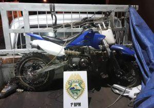 Polícia recupera moto furtada que seria revendida em Witmarsum