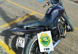Motocicleta furtada no interior do município é encontrada no Rocio II