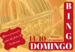 Neste domingo tem grande bingo com tarde de pastéis na paróquia