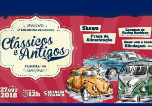 Palmeira recebe encontro de carros clássicos e antigos e motocicletas neste sábado (27)