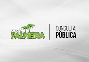 Prefeitura realiza consulta pública para escolher atrações da Expo Palmeira