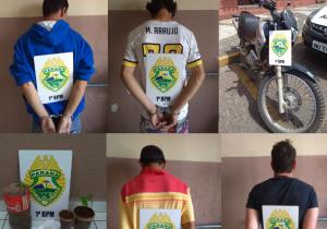 Polícia Militar encaminha suspeitos por tráfico de drogas