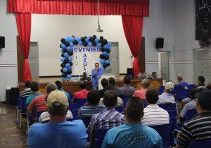Homens participaram de ação da Secretaria de Saúde alusiva ao Novembro Azul