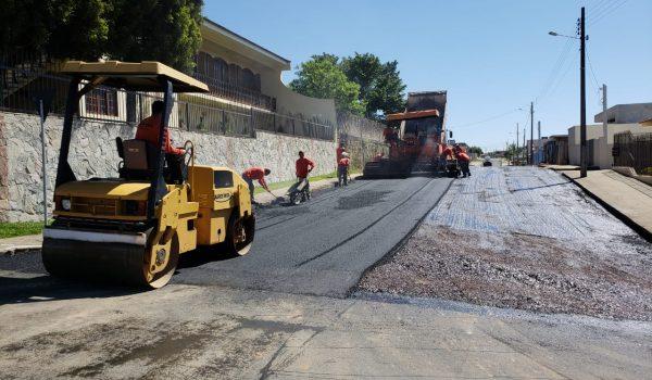 Obras de mais de 10 mil m² de recape seguem em andamento