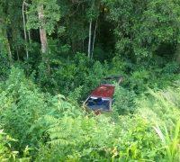 O condutor declarou que perdeu o controle do veículo ao olhar para o filho que chorava no banco traseiro.