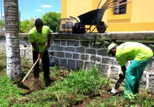 Jardim em torno da Matriz é resultado de parceria com o Viveiro Porto Amazonas (VPA)