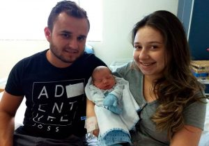 O primeiro bebê palmeirense do ano é um menino